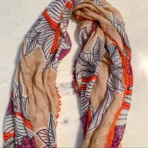Anthropologie Printed Infinity Scarf